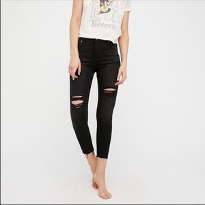 Free People | Shark Bite high rise destroyed jeans